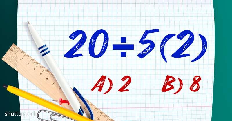 ¿Cuál es la respuesta correcta de este problema matemático? ¿8 o 2?
