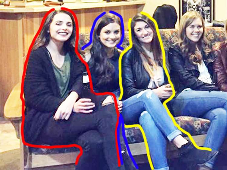 Un reto viral que confunde a más de uno: 6 chicas y solo 5 pares de piernas, ¿qué sucede aquí?