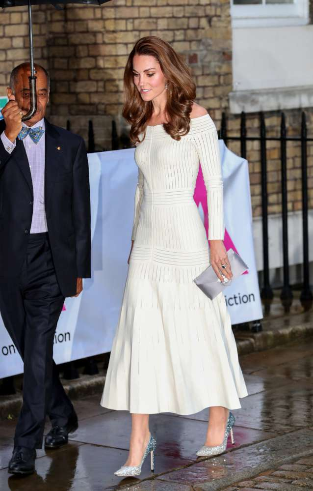 Kate Middleton Looks Stunning In A Recycled White Off-The-Shoulder Dress That She's Already Worn