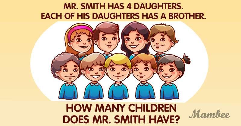 Cette énigme peut vous aider à augmenter vos capacités de raisonnement. Combien d'enfants M. Smith a vraiment ?