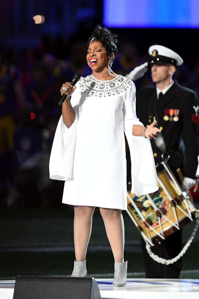 White Wonder! Gladys Knight Dazzles In Her White Outfit As She Renders Soul Touching Performance of The National Anthem At The SuperBowlWhite Wonder! Gladys Knight Dazzles In Her White Outfit As She Renders Soul Touching Performance of The National Anthem At The SuperBowlgladys knight super bowl anthem 2019 soul rendition look