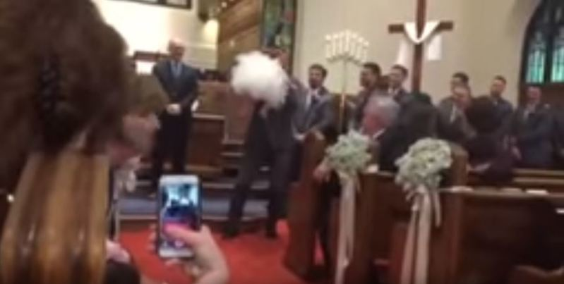 Flower Girl Steals The Spotlight With Her Hilarious Sprint Into The Groom's Embrace