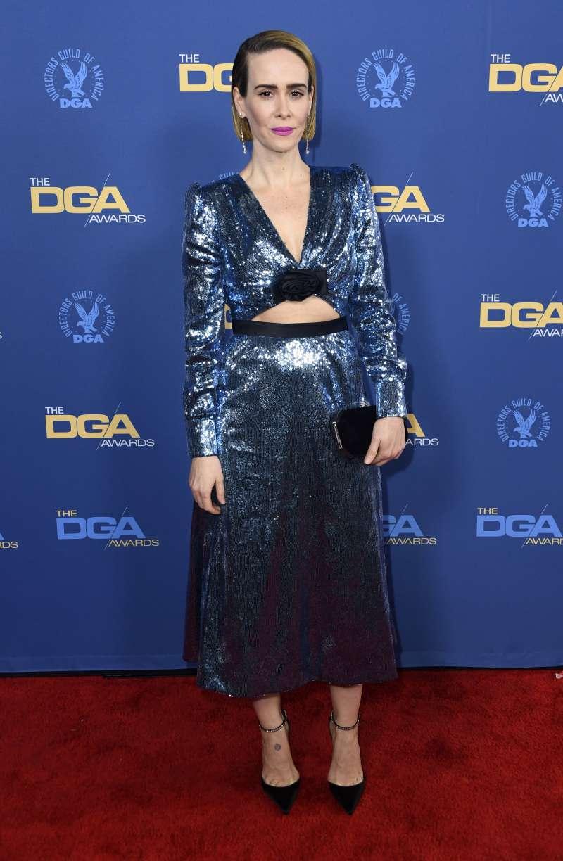 Sarah Paulson fue la sensación de los premios DAG 2019 con un vestido de lentejuelas escotado