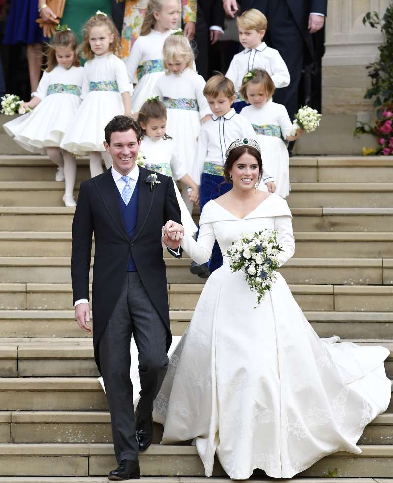 Feast Your Eyes On Princess Eugenie's 2nd Wedding Dress. A Close Up And Rear View Is Finally Released