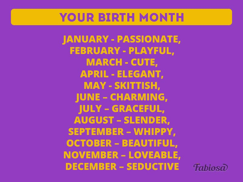 Fun Mock-Test: What Is Your Most Attractive Feature According To Birth Date?Fun Mock-Test: What Is Your Most Attractive Feature According To Birth Date?
