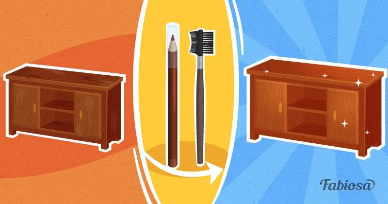 5 manières de dissimuler les rayures sur les meubles en bois
