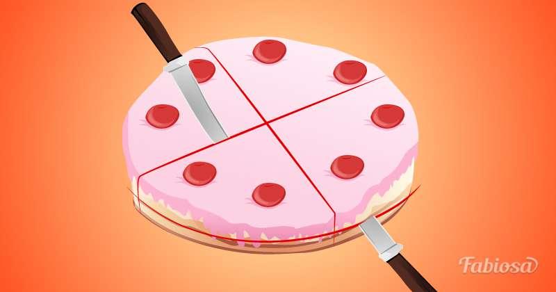 рисунок тортов разрезные этот