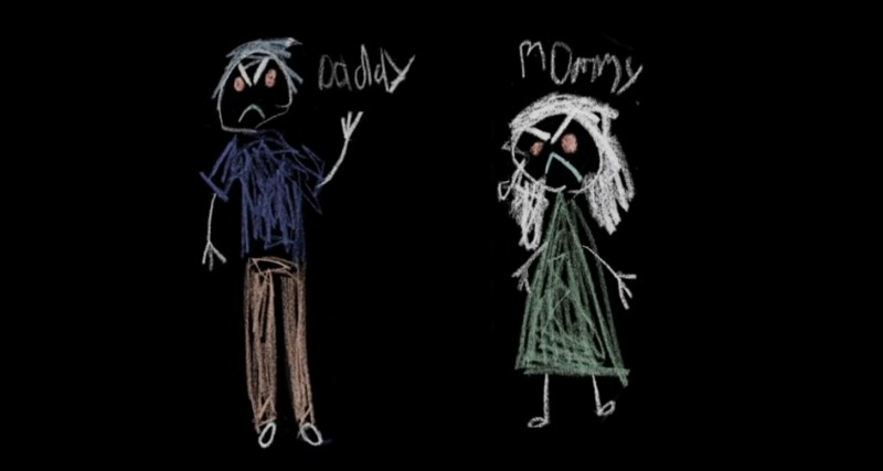 3 реальных случая жестокого обращения с детьми доказывают, что нечто подобное может происходить едва ли не у вас на глазахThe drawing of angry dad and mom who abused their children