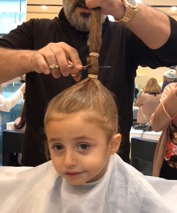 Kid Makeover: Boy Came To Get His First Haircut And His Whole Tail Was Cut Off! boy