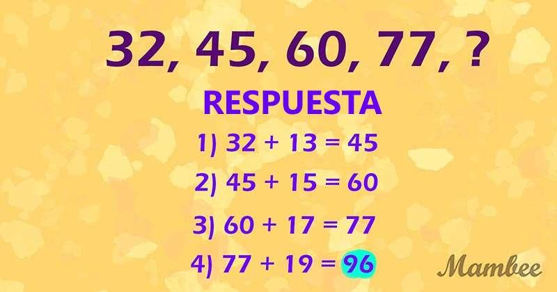 Un enigma matemático simple: hay que encontrar el número faltante en la serie numéricaUn enigma matemático simple: hay que encontrar el número faltante en la serie numéricaUn enigma matemático simple: hay que encontrar el número faltante en la serie numérica