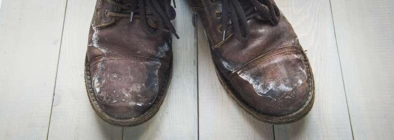 Taches de sel chaussures