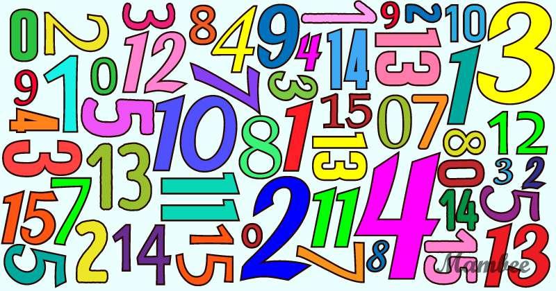 Hier ist eine Zahlenfolge von 0 bis 15, aber etwas fehlt! Errätst du was es ist?