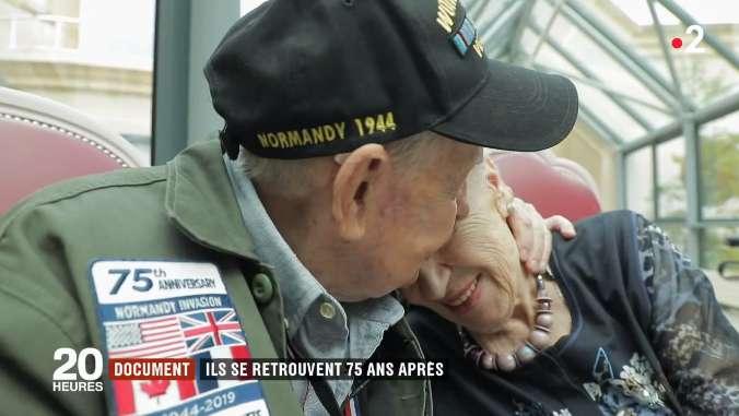 """""""Nunca dejaste mi corazón"""": Después de 75 años, veterano estadounidense vuelve con su amor francés"""