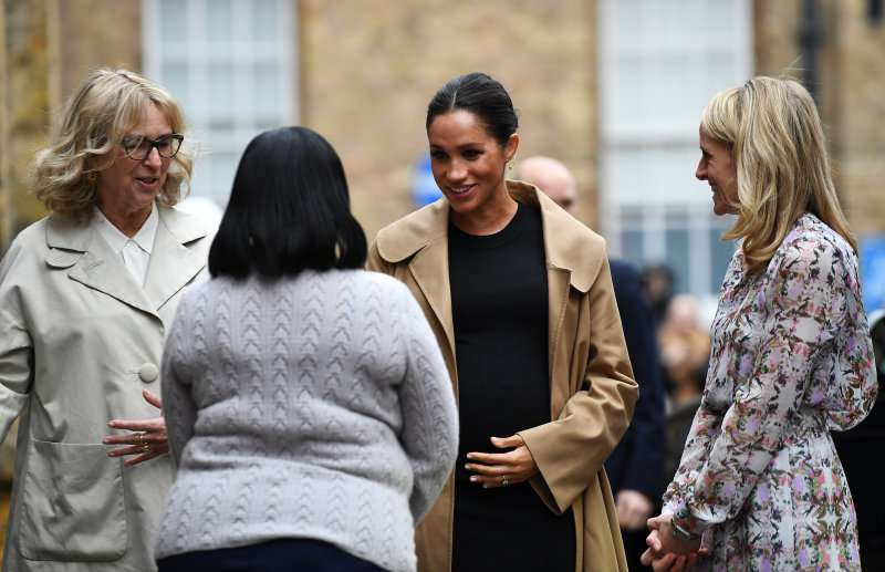 Pregnant Meghan Markle Steps Out As Latest Royal Patron In Interesting Shoes She Had Flaunted Once Before