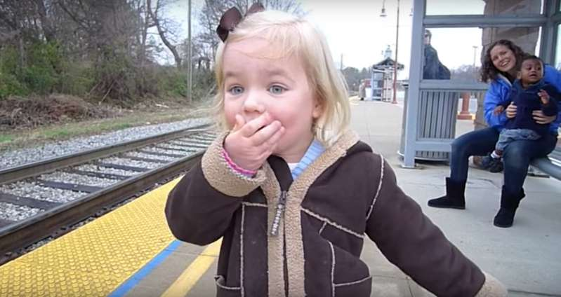 Excessively Adorable: Little Girl Could Not Contain Her Excitement When Her Dream To Ride A Train Came True