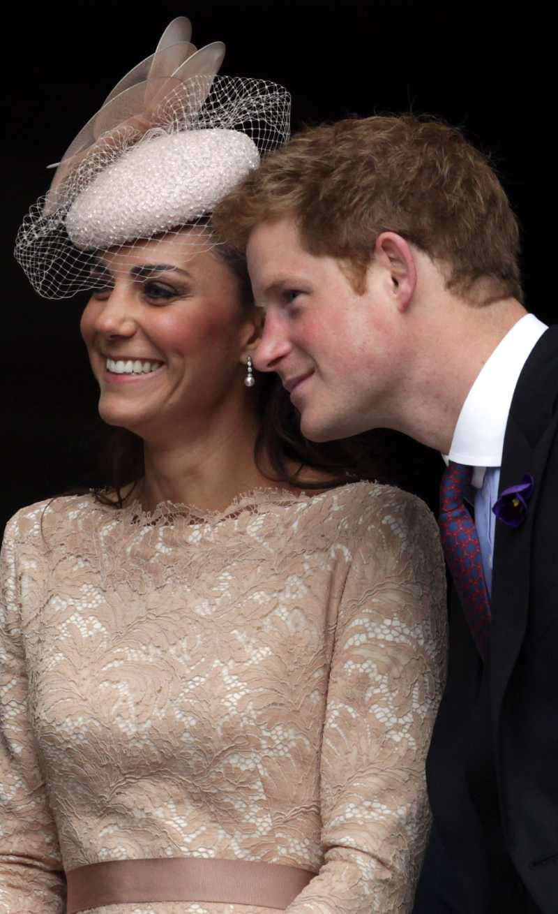 Jokestress Of Cambridge: Kate Middleton Once Gave Prince Harry A 'Grow Your Own Girlfriend' Kit For ChristmasCatherine, Duchess of Cambridge and Prince Harry smile as the leave a Service Of Thanksgiving at St Paul's Cathedral on June 5, 2012