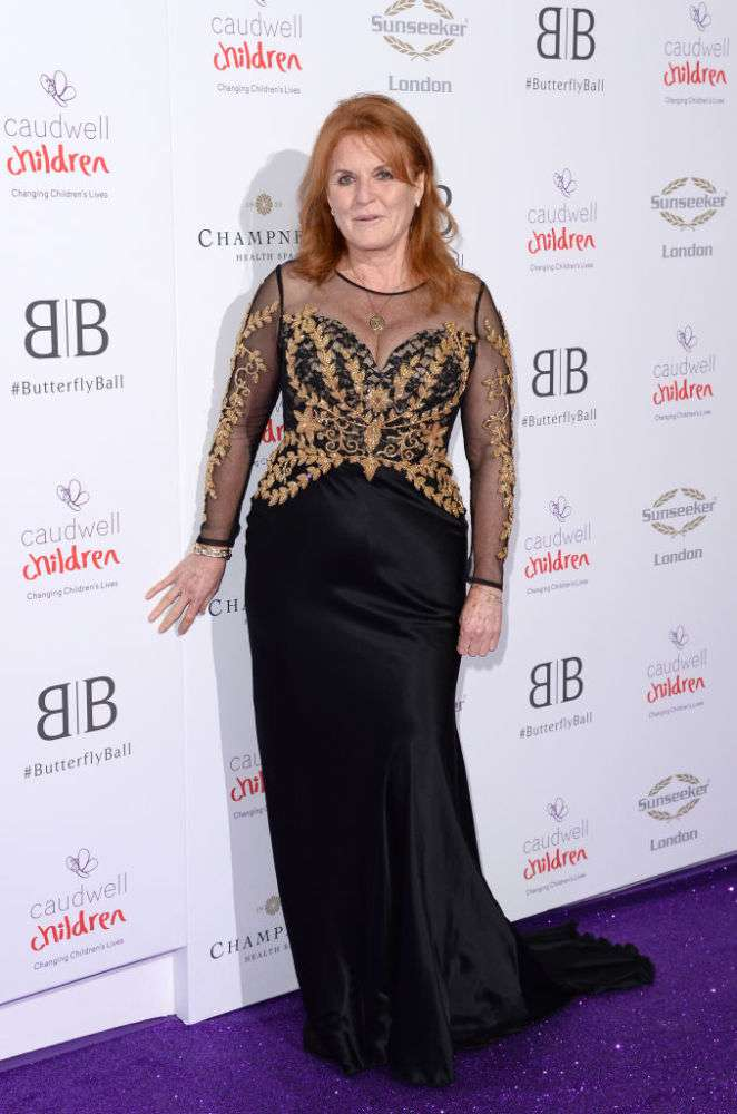 Sarah Ferguson Gives Off Real Catholic Dream Vibes As She Stuns In Uber-Chic Black Dress At Caudwell Children Red Carpet