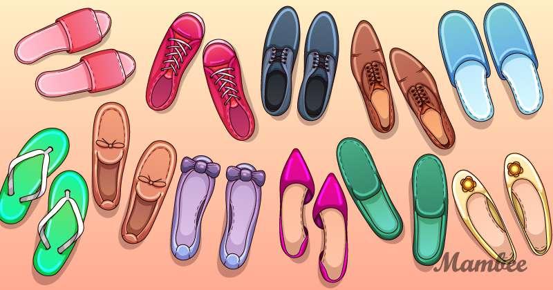Rompecabezas cerebral: entre tantos zapatos hay un error descarado, y la tarea será identificarloriddle find mistake, riddle what's wrong here, riddle to attention