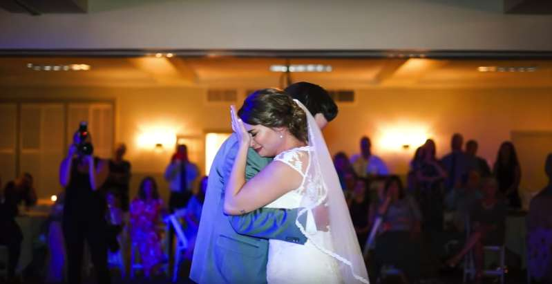 Bride Can't Hold Tears As She Hears Her Late Father's Voice On Her Wedding Day