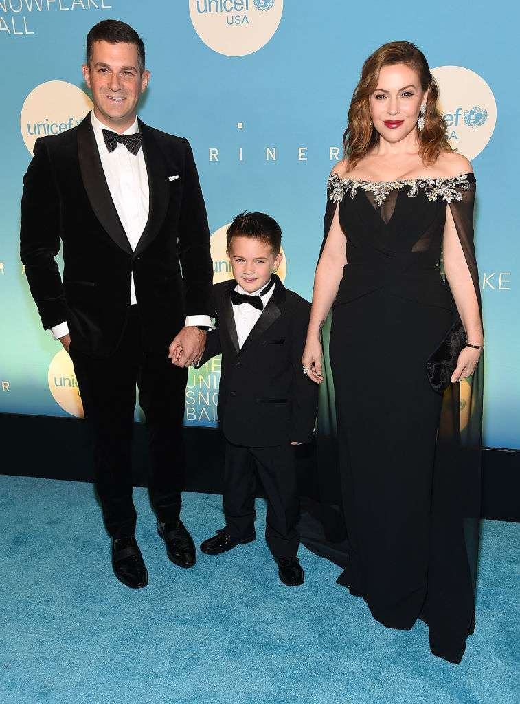 45-Year-Old Alyssa Milano Showed Off Her Stunning Shape In A Transparent Caped Dress