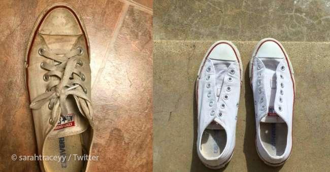 comment nettoyer des chaussures blanches pour qu elles retrouvent leur aspect neuf sur fabiosa. Black Bedroom Furniture Sets. Home Design Ideas