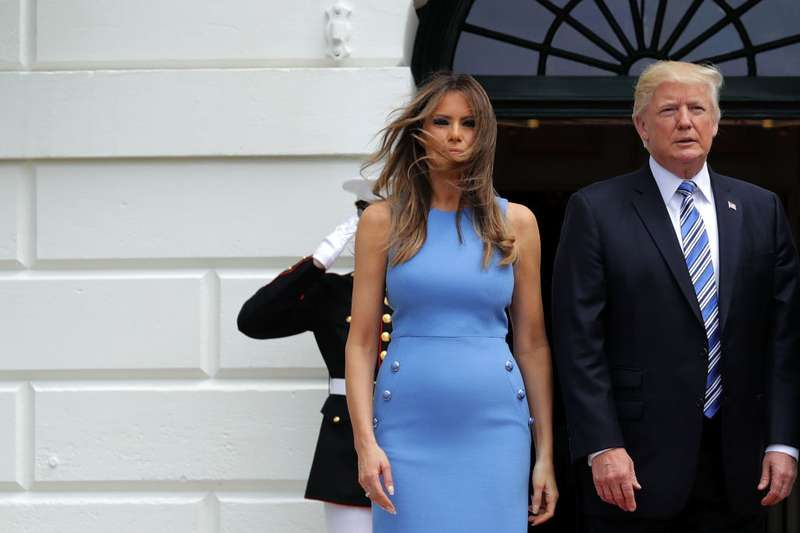 Almost A Marilyn: Melania Trump's Awkward Dress Moment Was Caught On Video