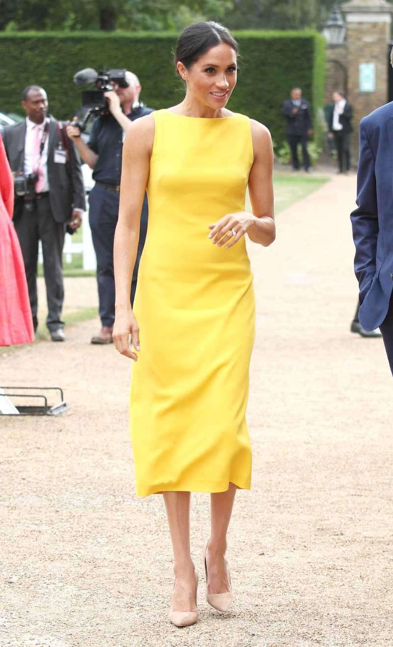 Kate middleton en robe jaune