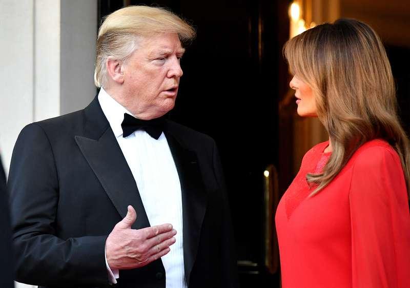 Melania und Donald Trump sollen gestritten haben, als sie ein Dinner für die königliche Familie veranstalteten
