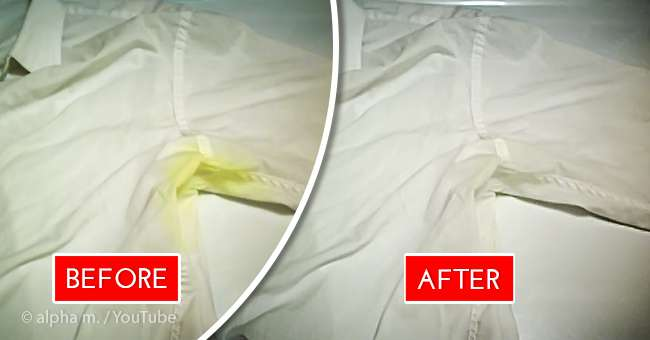 how to get rid of yellow sweat stains on white clothes 2 simple but helpful methods on fabiosa. Black Bedroom Furniture Sets. Home Design Ideas