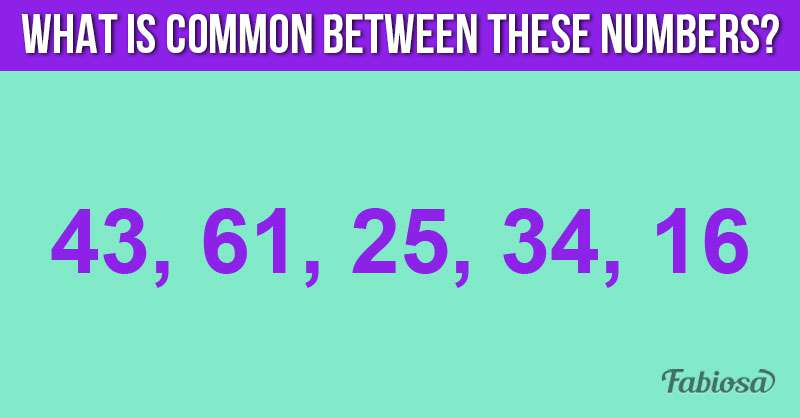 Find The Pattern: What Do These 5 Numbers Have In Common?