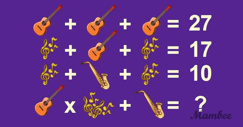 Pouvez-vous le résoudre ? Essayez de trouver la solution de ce casse-tête mathématique déroutant