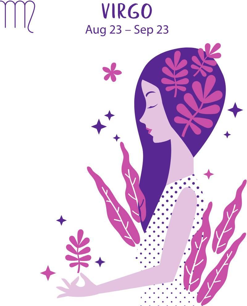 За какого мужчину не стоит выходить замуж, исходя из вашего знака зодиака?Virgo zodiac sign. Girl vector illustration.