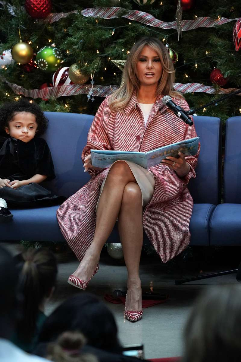 Flaunting Fit Legs! Melania Trump Dons A Chic $1,250 Red Coat At A Christmas Visit To A Children's HospitalFlaunting Fit Legs! Melania Trump Dons A Chic $1,250 Red Coat At A Christmas Visit To A Children's HospitalFlaunting Fit Legs! Melania Trump Dons A Chic $1,250 Red Coat At A Christmas Visit To A Children's Hospital