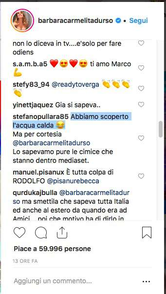 """Il web bullizza l'outing di Marco Carta da Barbara D'Urso: """"Che scoperta, è solo per audience!"""""""