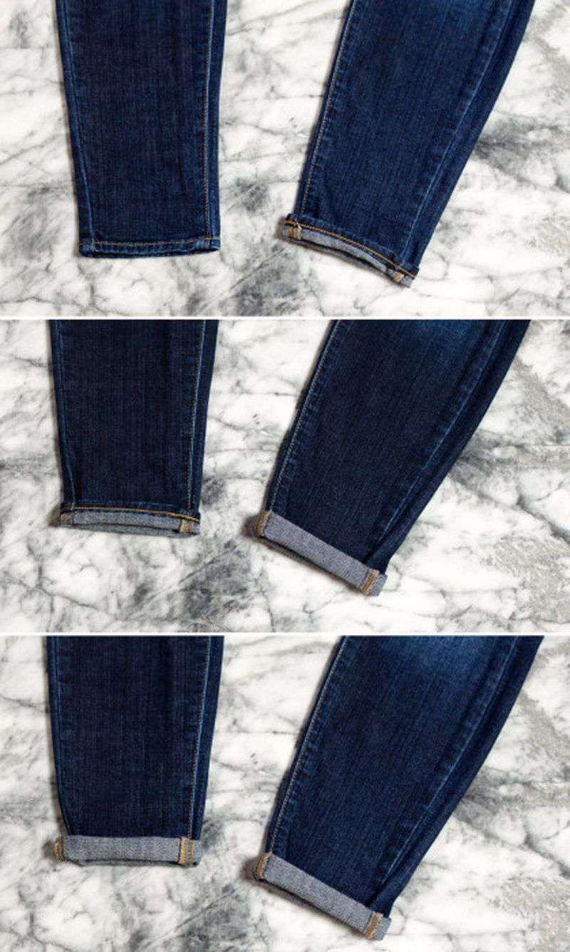 Манжеты на брюках. Классические брюки с манжетами. Прямые 41