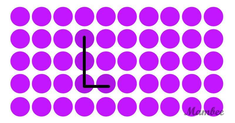¡Reto mental! ¿Quién puede encontrar la letra escondida entre los puntos de colores?