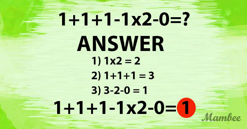 It Seems Simple At First, But Many People Couldn't Solve This Tricky Math Problem. Will You Give It A Shot?It Seems Simple At First, But Many People Couldn't Solve This Tricky Math Problem. Will You Give It A Shot?It Seems Simple At First, But Many People Couldn't Solve This Tricky Math Problem. Will You Give It A Shot?