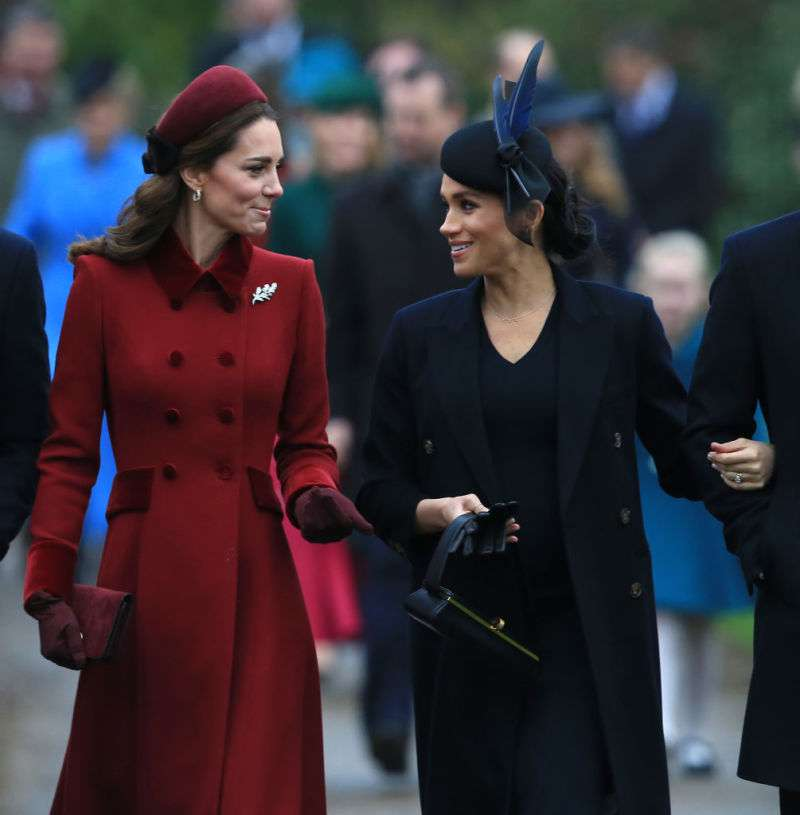 Body Language Expert Claims Display Of Friendship Between Kate And Meghan At The Christmas Service Walk Was An Act To Keep Up Appearancesroyals