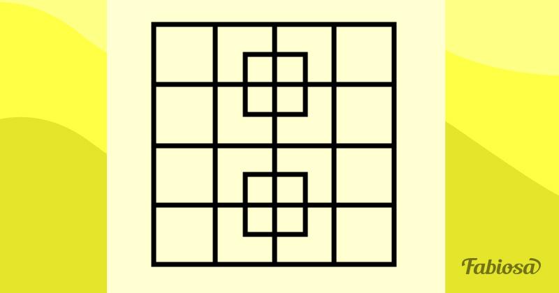 Ce n'est pas si évident ! Combien de carrés se trouvent sur cette image ?Ce n'est pas si évident ! Combien de carrés se trouvent sur cette image ?