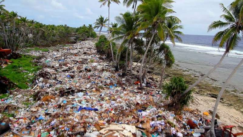 Plastic Plastic Plastic British Diver Films Swimming In A Trash