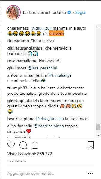 Barbara Instagram comment