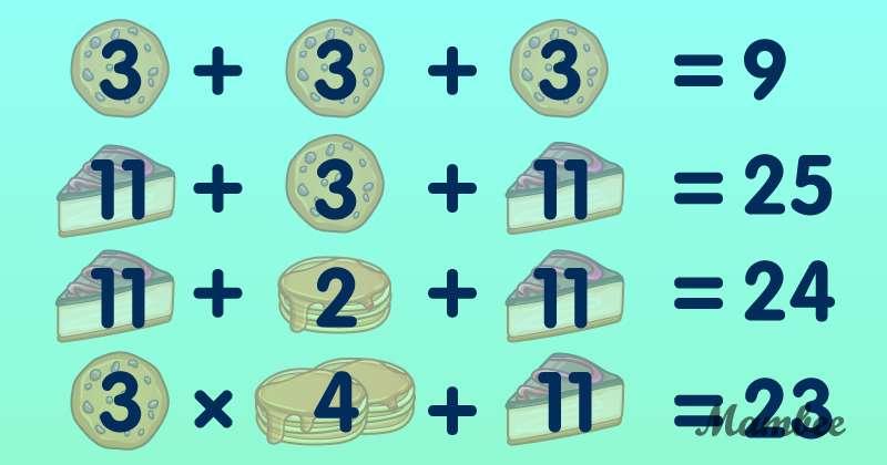 Un dessert compliqué : à quelle vitesse pourrez-vous résoudre ce difficile problème de maths ?