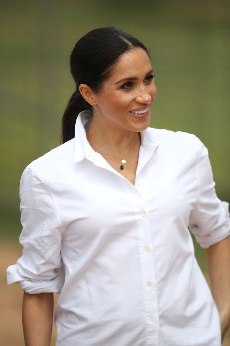 3 Necklaces Meghan Wore On Her First Abroad Tour: Why The Duchess Preferred Them Over Luxury JewelryMeghan, Duchess of Sussex visits a local farming family, the Woodleys, on October 17, 2018 in Dubbo, Australia