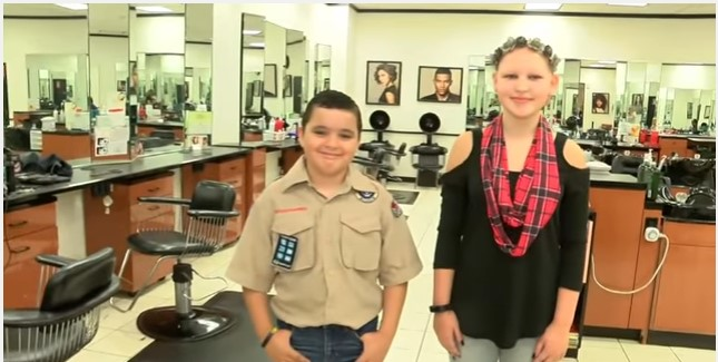 What A Sacrifice: Boy Grows His Hair For Two Years To Donate To His Friend Dealing With Hair Loss
