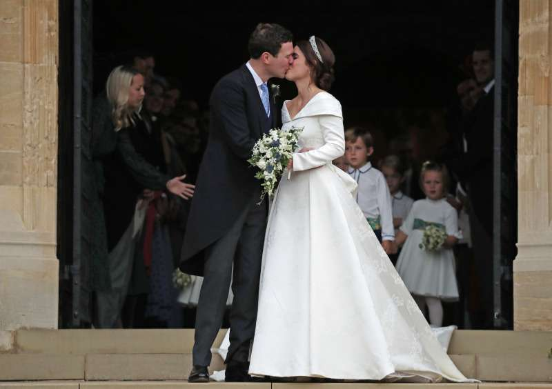 Princess Eugenie Flaunts A Dazzling Greville Emerald Kokoshnik Tiara With Gorgeous Earrings Gifted By The Groom, Jack Brooksbankprincess eugenie