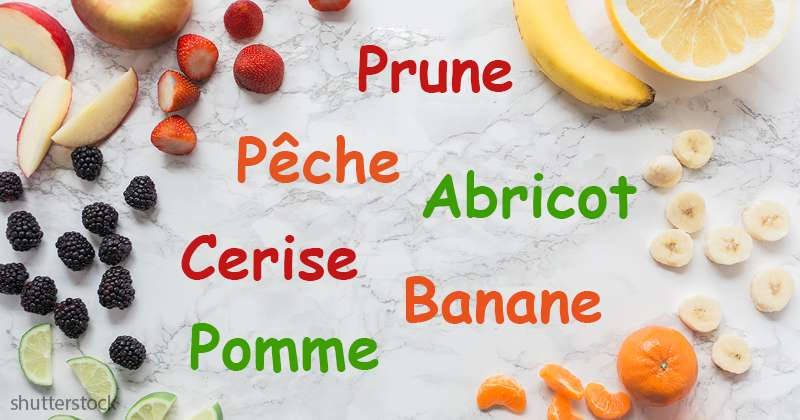 Pouvez-vous deviner quel fruit ne devrait pas figurer dans la liste ?