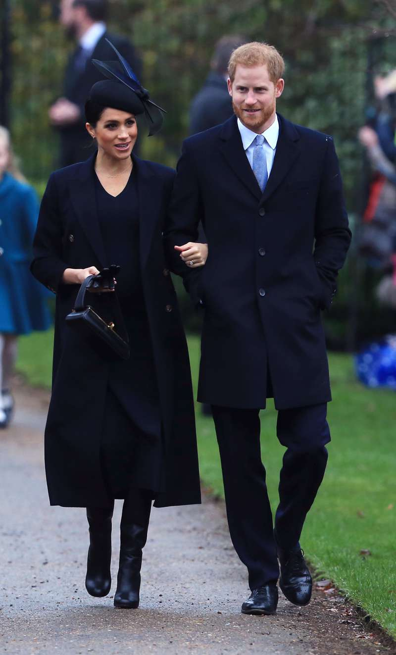 Some Gallant Elegance! Meghan Markle Donned A Stylish Black Outfit For Christmas ServiceSome Gallant Elegance! Meghan Markle Donned A Stylish Black Outfit For Christmas Service