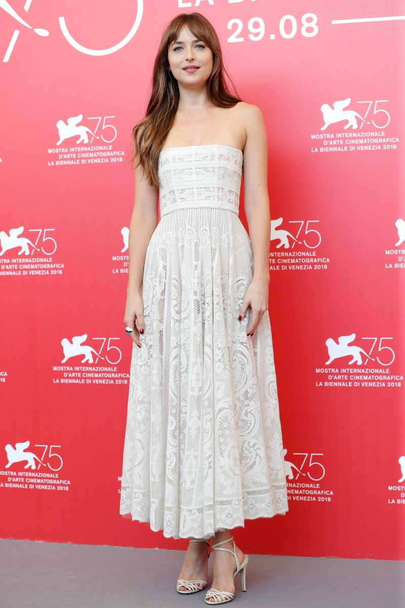 Dakota Johnson attends 'Suspiria' photocall during the 75th Venice Film Festival