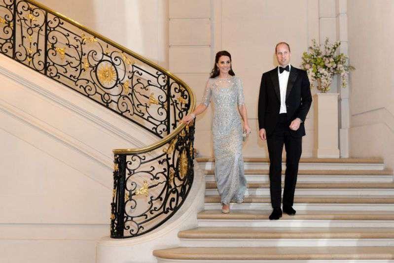 Una princesa de hielo: Kate Middleton lució un maravilloso vestido salido de un cuento de hadas