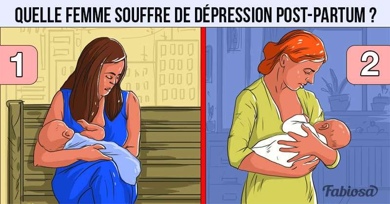 Vilken av dessa två kvinnor tror du lider av postpartum depression?